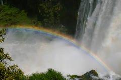 Colorful hues at the waterfall Royalty Free Stock Photos