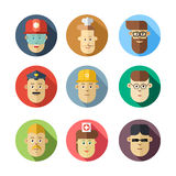 Colorful human faces. Different professions. Royalty Free Stock Images