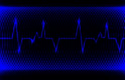 Colorful human heart normal sinus rhythm, electrocardiogram record. Bright and bold design. EPS10 stock image