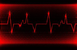 Colorful human heart normal sinus rhythm, electrocardiogram record. Bright and bold design Stock Images