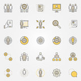 Colorful human resources icons Royalty Free Stock Images