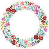Colorful Hungarian embroidery pattern from Kalocsa region Royalty Free Stock Photo