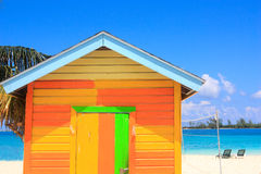 Colorful hut in the bahamas Royalty Free Stock Photos