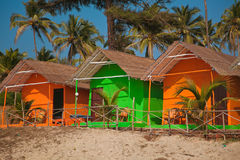 Colorful huts on the beach Royalty Free Stock Photo