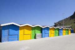 Colorful huts Stock Images