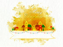 Colorful huts for Merry Christmas celebration. Royalty Free Stock Photography