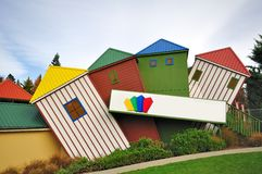 Colorful Huts. Huts painted with many colors royalty free stock images