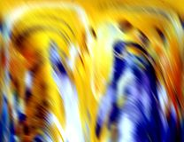 Colorful hypnotic blue yellow smooth waves abstract background, abstract background. Colorful hypnotic yellow silver hues and contrasts, vivid waves like shapes Stock Photography