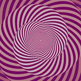 Colorful hypnotic spiral. Colorful hypnotic psychedelic spiral. Modern vector illustration with optical illusion. Twisted striped round shape. Magical decorative Royalty Free Stock Images