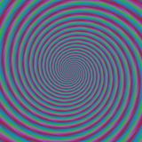 Colorful hypnotic retro seamless spiral pattern Stock Photo
