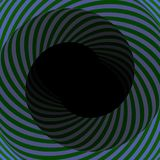 Colorful hypnotic tunnel Royalty Free Stock Image