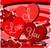 Colorful I love you background Royalty Free Stock Images