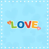 Colorful I Love You Stock Image