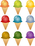 Colorful ice cream illustration Royalty Free Stock Photos