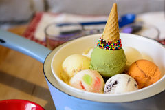 Colorful ice cream. A lot of colorful ice cream Royalty Free Stock Image