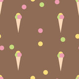Colorful ice cream seamless background Stock Images