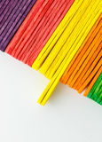 Colorful of Ice cream sticks Stock Images