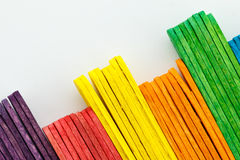 Colorful of Ice cream sticks Stock Image