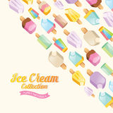 Colorful ice cream vector collection Royalty Free Stock Images