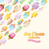 Colorful ice cream vector collection Stock Photos