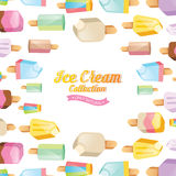 Colorful ice cream vector collection Stock Image