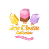 Colorful ice cream vector collection Royalty Free Stock Photo