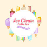Colorful ice cream vector collection Stock Photo