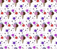 Colorful ice creams, dots and lollipops Royalty Free Stock Photography