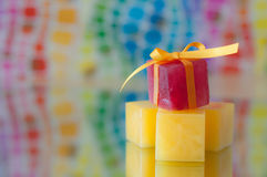 Colorful Ice Cubes Stock Image