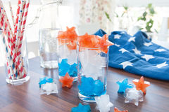 Colorful ice cubes Stock Photos