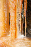 Colorful icicles Stock Photos