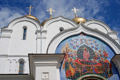 Colorful icon. Assumption Church in Yaroslavl, Russia. Royalty Free Stock Photography