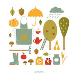 Colorful icon autumn Royalty Free Stock Images