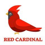 Colorful Icon cardinal rojo Foto de archivo libre de regalías