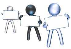 Colorful icon figure with blank message board Royalty Free Stock Photos