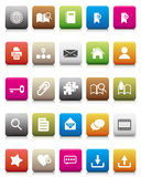 Colorful Icon -- Internet And Blogs Stock Photos