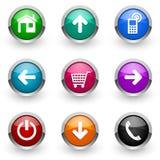 colorful icon set Royaltyfri Foto
