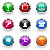 colorful icon set Arkivbild