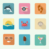 colorful icon set Στοκ εικόνες με δικαίωμα ελεύθερης χρήσης