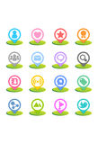 Colorful Icon Set - Social Media Stock Image