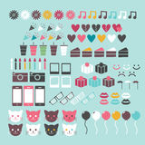 Colorful Icon Set Royalty Free Stock Photos