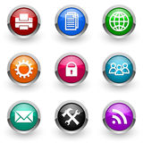 Colorful icon set Royalty Free Stock Photography