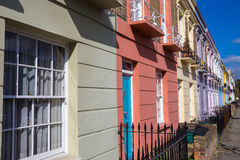 Colorful iconic houses of Camden Town - London, United Kingdom Stock Images