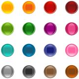 Colorful icons. 16 colorful shiny buttons for your application Royalty Free Stock Photography