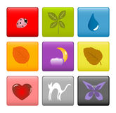 Colorful icons stock photography