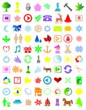 Colorful icons. Vector Illustration of a set of different icons vector illustration