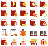 Colorful icons of books and literature Stock Photo