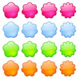 Colorful Icons or Buttons. Colorful, artistic buttons or icons, suitable for clip art Royalty Free Stock Photos