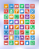 Colorful icons for eshop, suitable for flat design Stock Photography