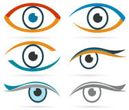 Colorful icons eye vector set for design. Stock Photo
